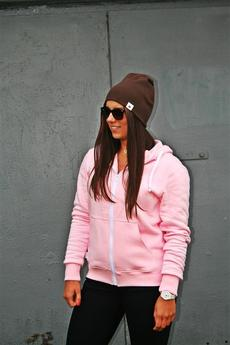 Button - BLUZA HOODIE SIMPLE UNISEX różowa