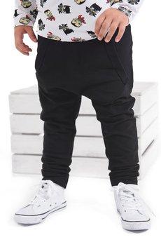 Gapula - Spodnie czarne z kangurką