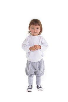 - Biała bluza nietoperz