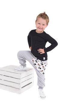 Gapula - Czarna bluzka z kieszonką