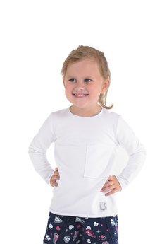 Gapula - Bluzeczka biała z kieszonką