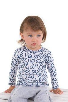 Gapula - Bluzeczka biała w serduszka