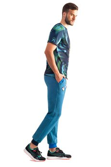 OKUAKU - Serpens Sweatpants (Melange Blue)