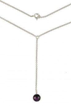 ATdiament - Srebrny naszyjnik krawatka z cyrkonią Swarovskiego