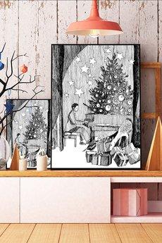 Parallel World - w zimowym lesie... ilustracja a4