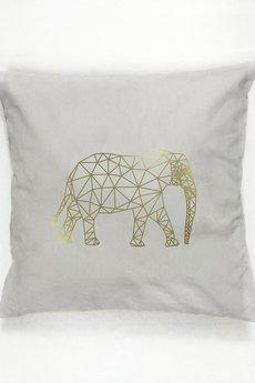 Złote Plakaty - Poduszka Geometryczny słoń