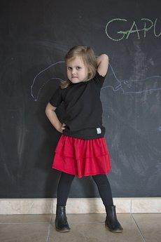 Gapula - Bluzeczka na krótki rękaw czarna
