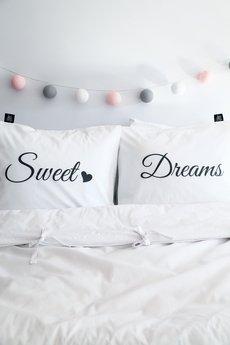 Love To Sleep - POSZEWKI NA PODUSZKI Z NAPISAMI SWEET DREAMS