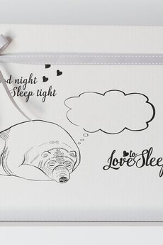 Love To Sleep - POSZEWKI NA PODUSZKI Z NAPISAMI HE / SHE SLEEPS HERE & THE DOG SLEEPS HERE