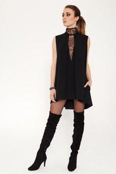 Luiza Kimak - Czarna sukienka z koronką