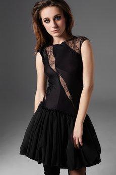 Luiza Kimak - Sukienka ze wstawkami z koronki