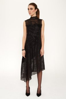 Luiza Kimak - Asymetryczna sukienka z szyfonu