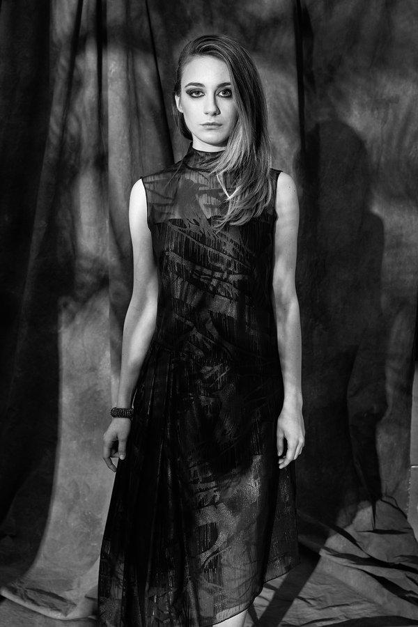 99368847f Asymetryczna Sukienka Z Szyfonu - Czarny | Luiza Kimak | Sukienki Damskie |  Mustache.pl