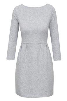 RISK made in warsaw - sukienka koktajlowa MAŁA SZARA