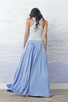 Spodnica maxi baldresowa blue d5d9c6