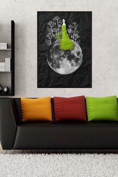 Parallel World - Zielarka... art print a4