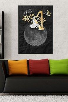 Parallel World - Harfistka... art print a4