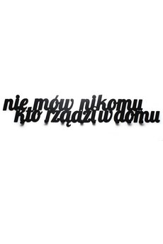 decolicious.pl - Wieszak do przedpokoju Nie mów nikomu