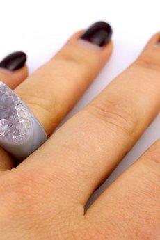 Brazi Druse Jewelry - InspiRING Ametyst rozmiar 14