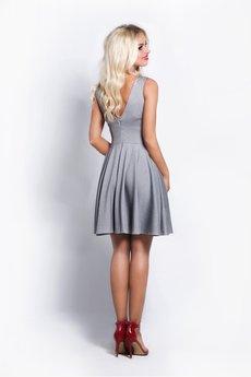 a0b47cd08d ... COCOVIU - szara sukienka w stylu lat 60  ...