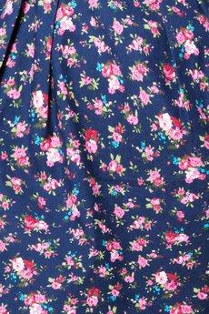 COCOVIU - sukienka w kwiaty na granatowym tle