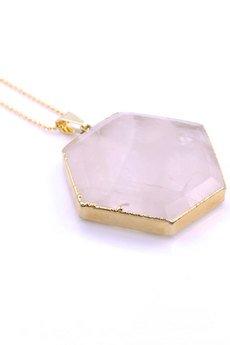 Brazi Druse Jewelry - Brazi Colare Modern Kwarc Różowy złoto