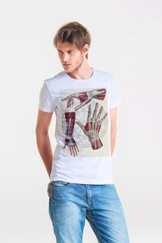 GAU great as You - HEXAGON HAND - t-shirt męski biały