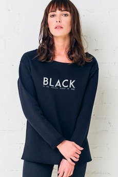 GAU great as You - BLACK IS ALL COLORS - bluza damska oversize czarna