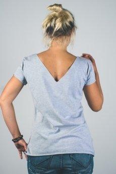 trikoo concept - Bluzka damska z dekoltem V z tyłu i emocją z przodu