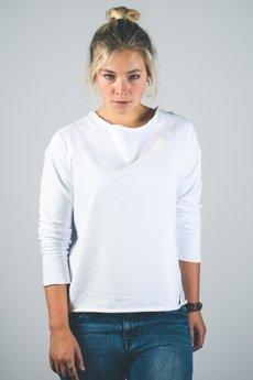 trikoo concept - Bluza casual damska biała z nadrukiem z tyłu