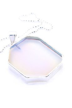 Brazi Druse Jewelry - Brazi Colare Modern Opal srebro ośmiokąt