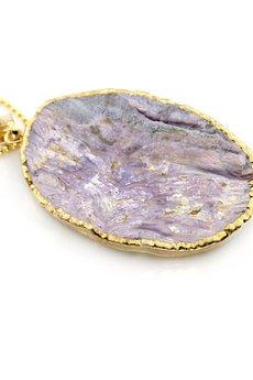 Brazi Druse Jewelry - Colare Druza Agatu złoto