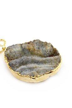 Brazi Druse Jewelry - Brazi Colare Druza Agatu złoto