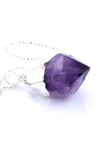 Brazi Druse Jewelry - Colare Raw Ametyst