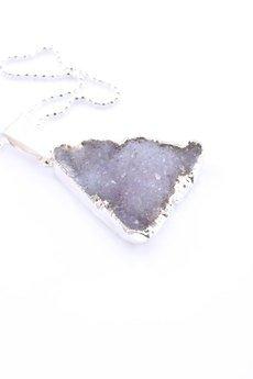 Brazi Druse Jewelry - Colare Druza Agatu Natural srebro