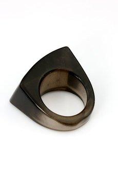 Brazi Druse Jewelry - InspiRING Kwarc Dymny rozmiar 16