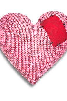 Poduszkownia - Poduszka serce z łatką