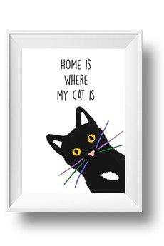 fantastisch! - PLAKAT HOME IS WHERE MY CAT IS