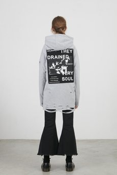 MISBHV - OSAKA DRAINED HOODIE GRAY