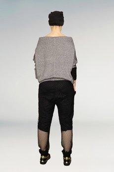 Non Tess - spodnie baggy z siatki ze ściągaczem