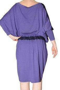 Non Tess - farbowana sukienka kimono z marszczeniem