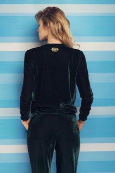 AKALA wear - Bluza Velvet Dark Green