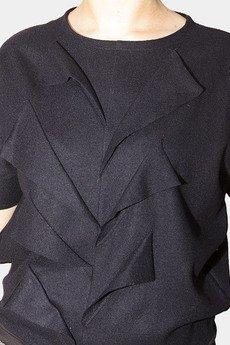 Non Tess - bluzka z wełny parzonej z aplikacją