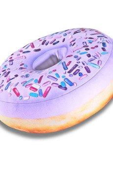 Poduszkownia - Poduszka Donut pączek duży z posypką jagodowy