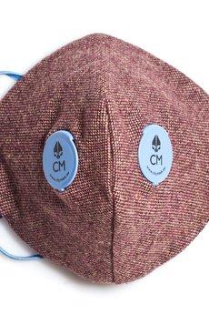 HisOutfit - Maska antysmogowa z węglem aktywnym MAZARON + 1 filtr