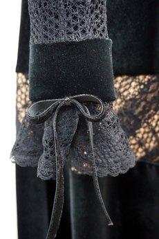 jordja - Sukienka welurowa czarna Roxanne JORDJA