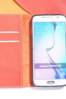 Berlose - Pokrowiec skórzany Berlose na telefon Samsung S7 Edge