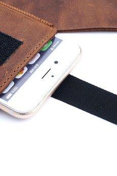 Berlose - Pokrowiec skórzany wsuwka Alan na telefon Samsung S7