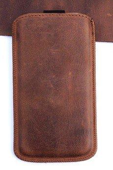 Berlose - Pokrowiec skórzany wsuwka Alan na telefon iPhone SE