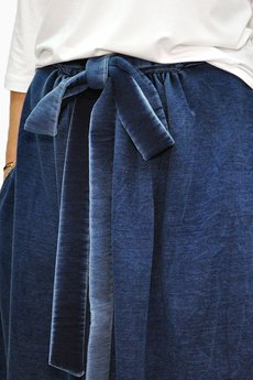 Granatowa Spódnica Maxi Z Długą Kokardą Granatowy | Bien